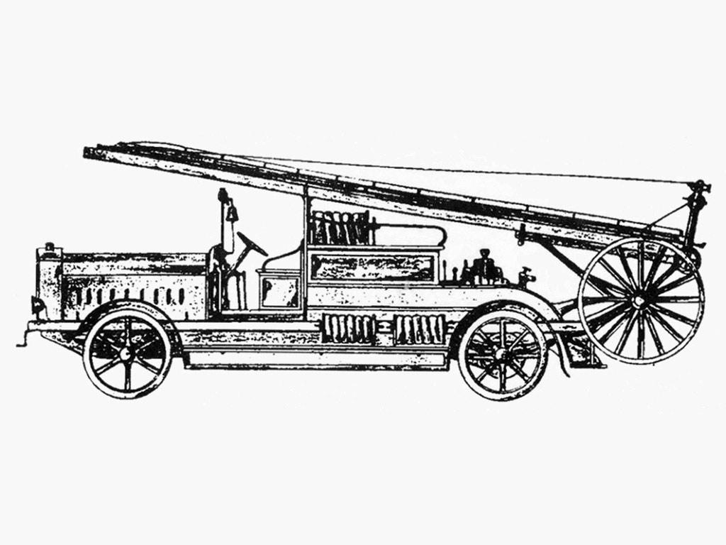 Съемная механическая лестница, установленная «Автопромторгом» на шасси зарубежного грузовика