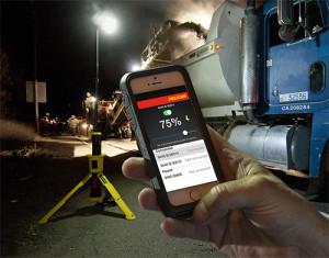 Управление фонарем с помощью телефона