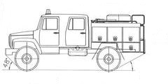 Автоцистерна пожарная АЦ-1.0-30 (33081)