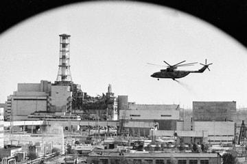 Обработка развалин реактора на ЧАЭС