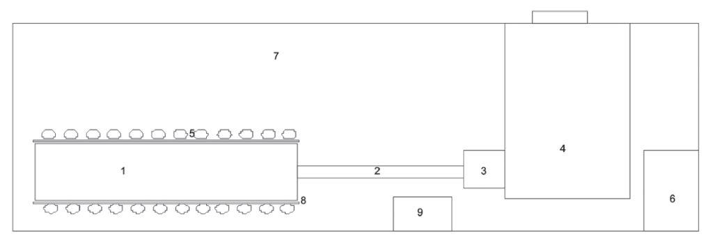 Схема (чертеж) генератора тумана (дыма)