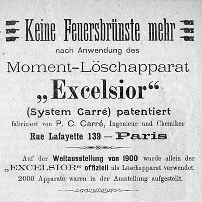 Кислотный огнетушитель «Excelsior» системы Карре (Франция, 1900 год)