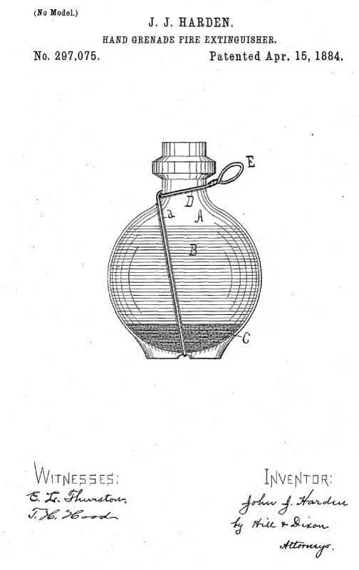 Огнетушащая граната Хардена (рисунок из патента)