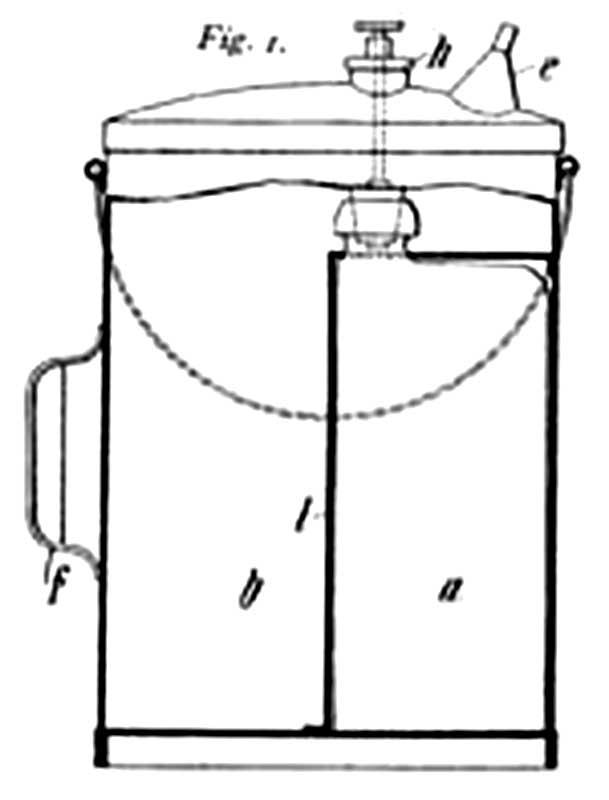 Конструкция пенного огнетушителя Александра Лорана