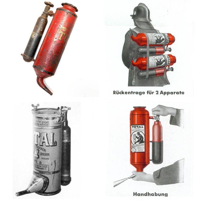 Порошковые огнетушители Total с внешним сосудом для газа-вытеснителя