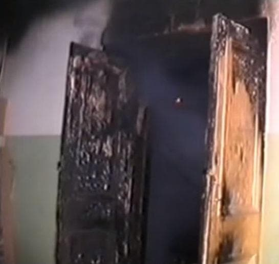 Последствия пожара в школьном классе