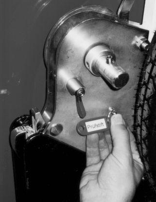 Контроль с помощью контрольного штифта катушка рукавная