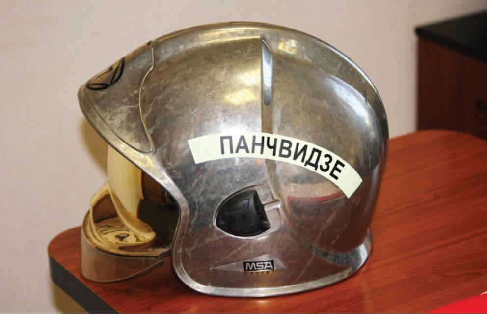 Обозначение на каске пожарного (фамилии)