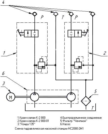 Схема насосной станции НС2080-2М1