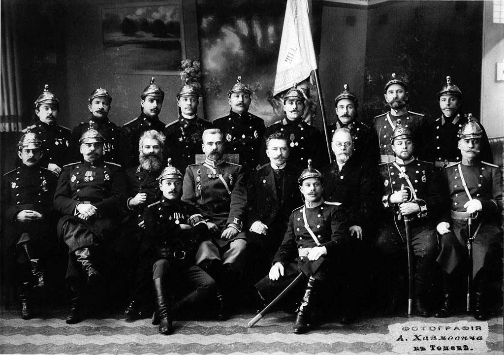 Брандмайор и брандмейстеры томских пожарных команд