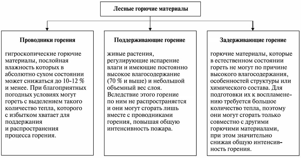 Классификация лесных горючих материалов