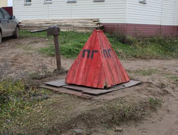 Пожарный гидрант (треугольная крышка)