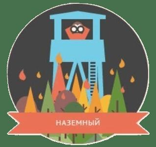 Наземное обнаружение природного пожара