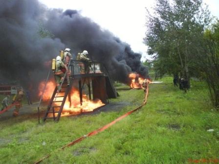 Практические занятия на огневой полосе