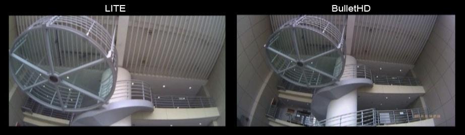 Разница в угле обзора камер Bullet