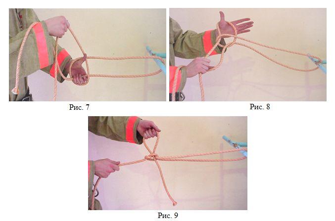Закрепление веревка за конструкцию 3 способом