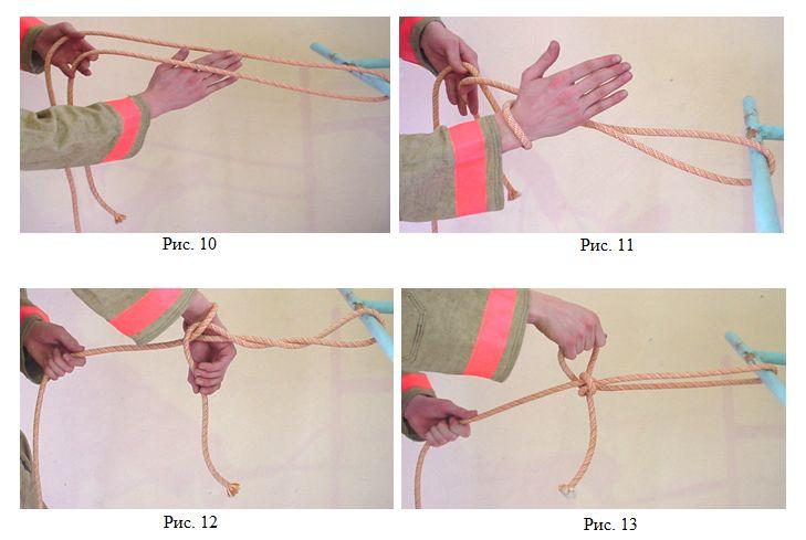 Закрепление веревка за конструкцию 4 способом