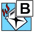 Класс пожара пиктограмма B