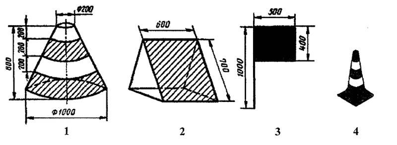 Обозначение границ вертолетной площадки
