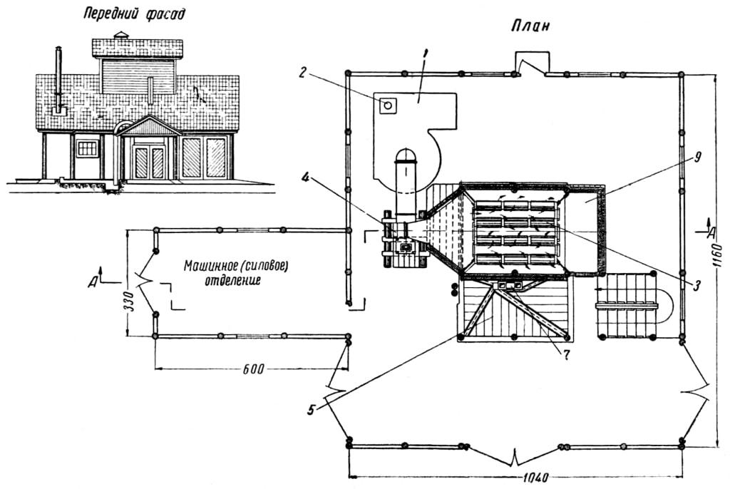 План зерносушилки 1258 ВИМ