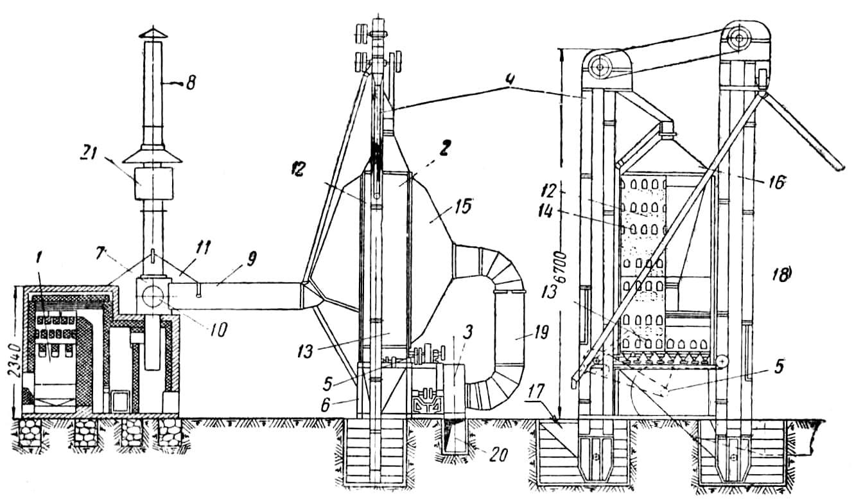 Схема зерносушилки СЗС-2