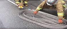 Скатка и перекатка пожарных рукавов