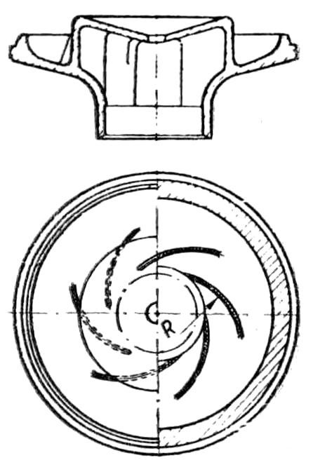 Крыльчатка конусного искрогасителя