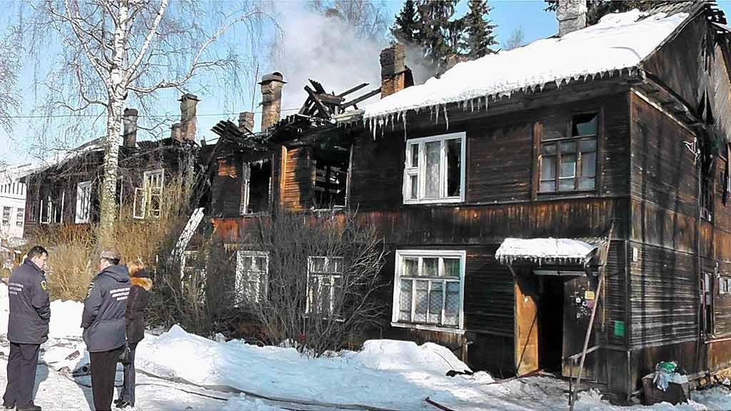Пожар в деревне Кобрино