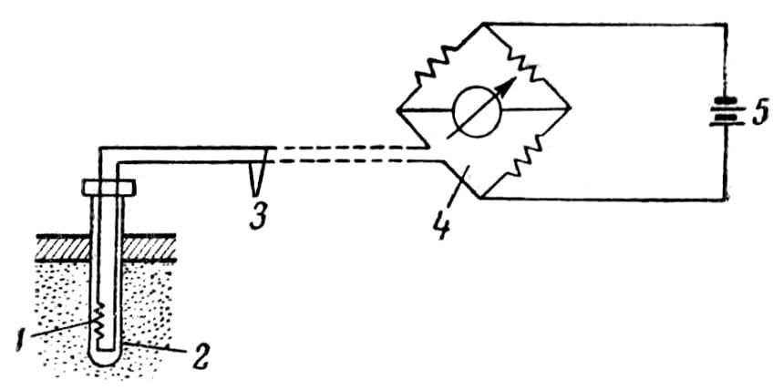 Схема дистанционной установки ДКТСу-1М для измерения температуры