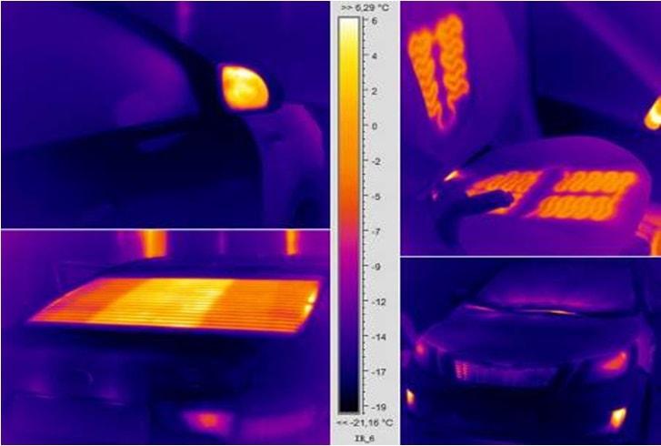 Тепловизор не способен видеть через стекло автомобиля