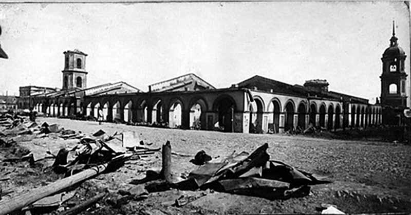 Торговые ряды Котельнича после пожара 1926 года