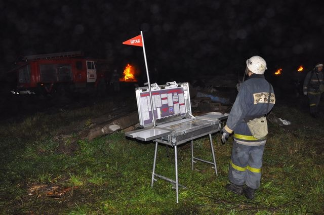 штаб пожаротушения