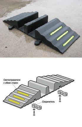 Рукавные мостики резиновые Hose Ramp HR4