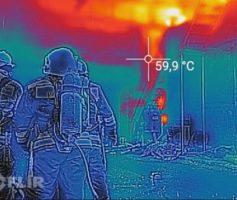 Тепловизор на пожаре