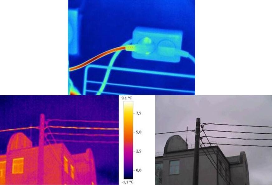 Тепловизор способен видеть скрытую электропроводку