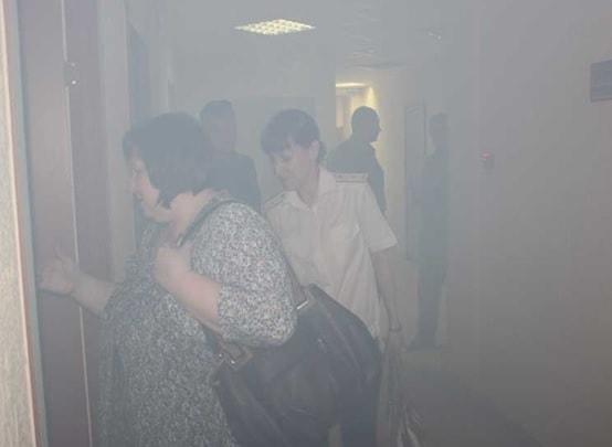 Тренировка по эвакуации при пожаре