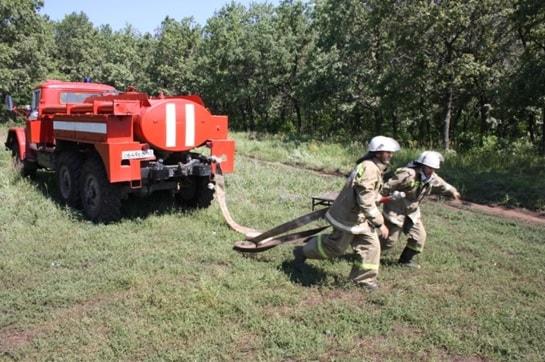Боевое развертывание добровольных пожарных от АРС-14