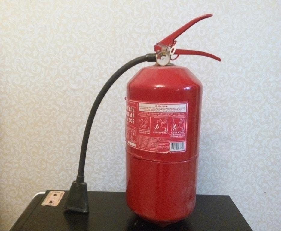 Учет первичных средств пожаротушения