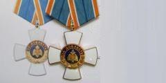 Ведомственная медаль МЧС России крест «За доблесть»