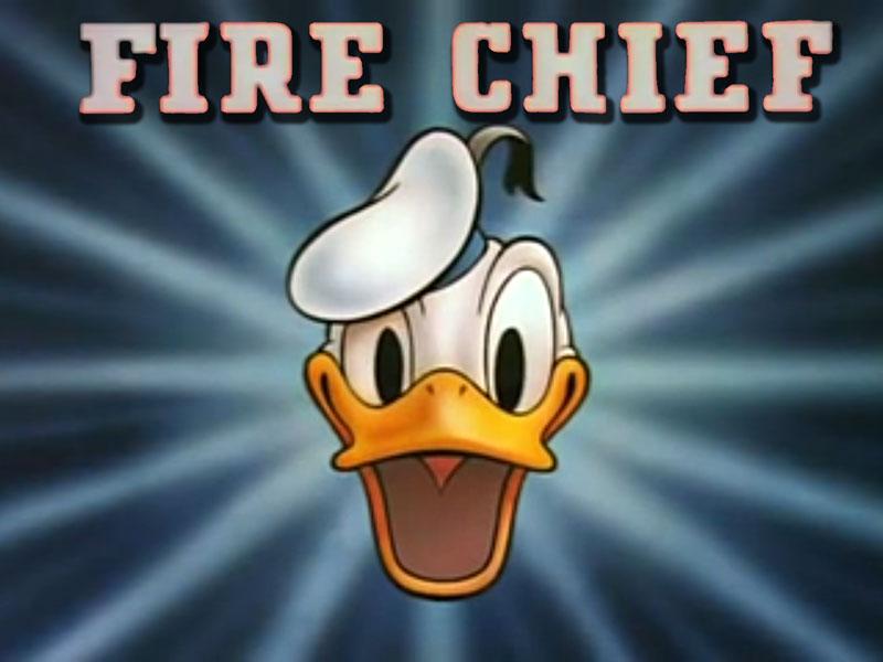 Начальник пожарной команды бригады Дональд Дак