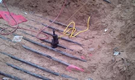 Прокалывание кабеля