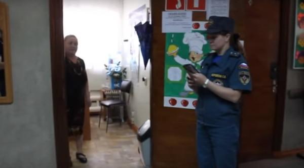 Проведение учебной тревоги сотрудниками МЧС России