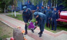 Церемония посвященная памяти погибшему пожарному Ануфриеву В.М.