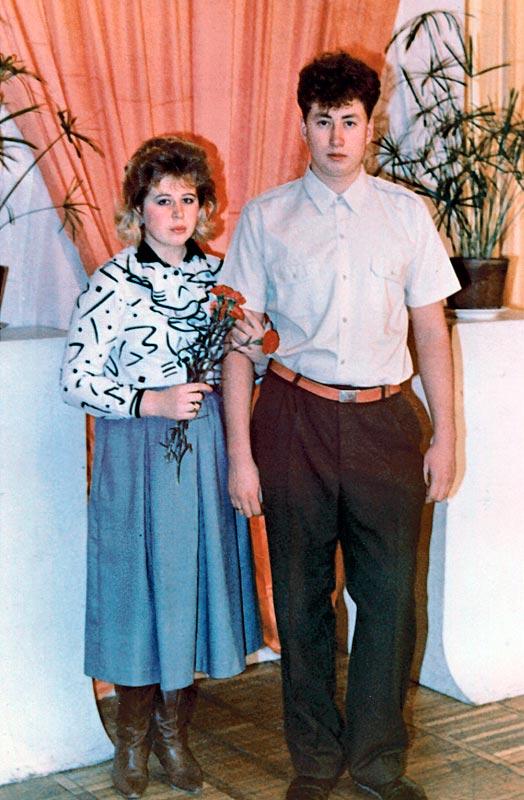 Николай и Елена Давыдкины в день свадьбы