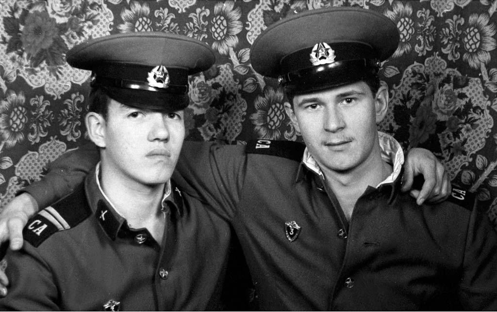 Сергей Леонтьев во время службы в армии
