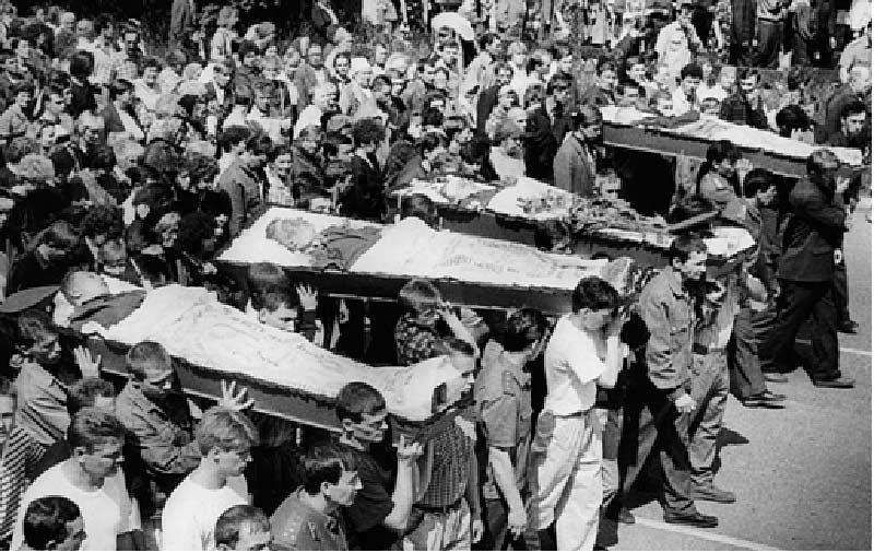 Похороны пожарных погибших при взрыве на АО Бератон