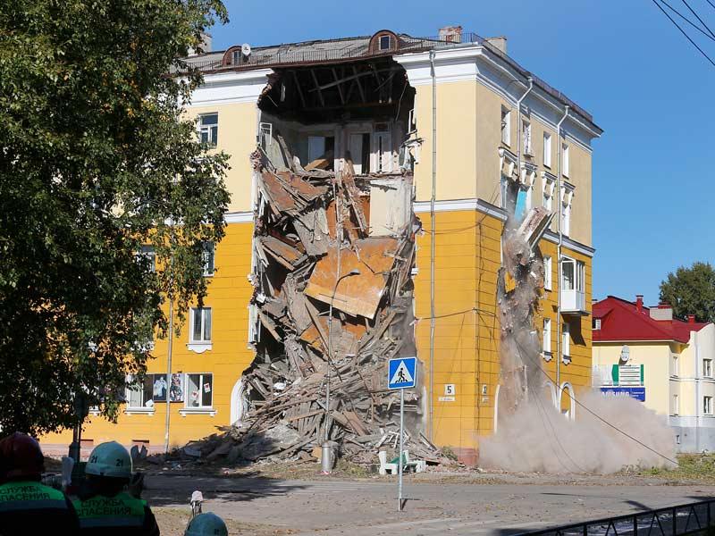 Принудительное обрушение части здания