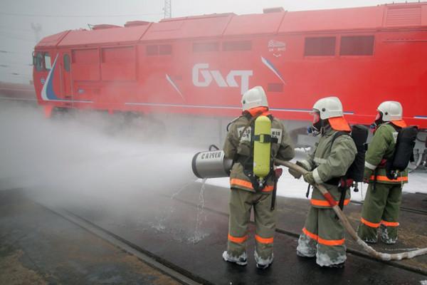Учения ведомственной пожарной охраны