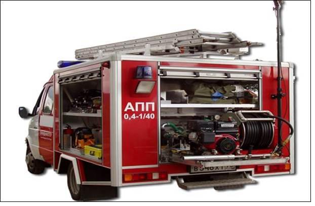 АПП с пожарным оборудованием