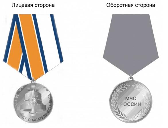Общий вид медали За пропаганду спасательного дела
